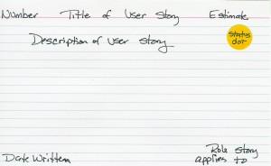 Sample User Story
