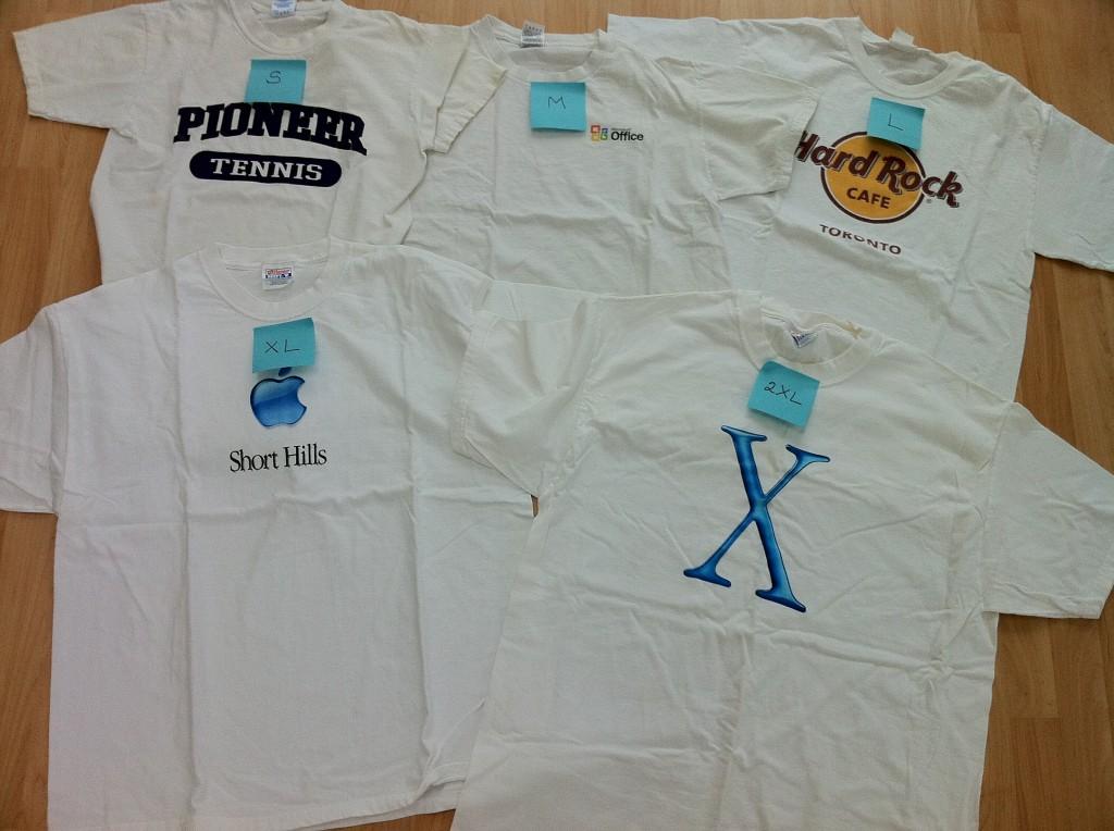 Relative T-Shirt sizing